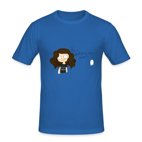 He is watching me? - T-shirt près du corps Homme