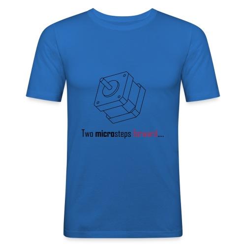 Two microsteps forward.... - Men's Slim Fit T-Shirt