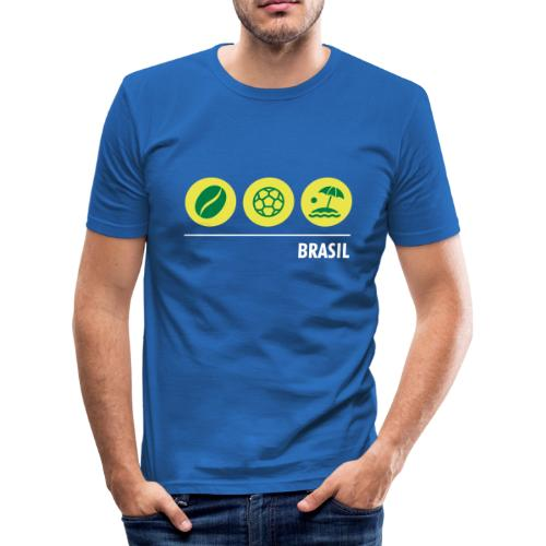 Circles - Brazil - Men's Slim Fit T-Shirt