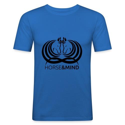 Logo Horse and Mind - Männer Slim Fit T-Shirt