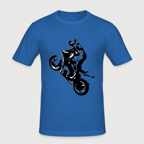 BR Wheelie style Black - Männer Slim Fit T-Shirt