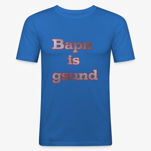 Bapn is gsund überarbeitetes Logo - Männer Slim Fit T-Shirt
