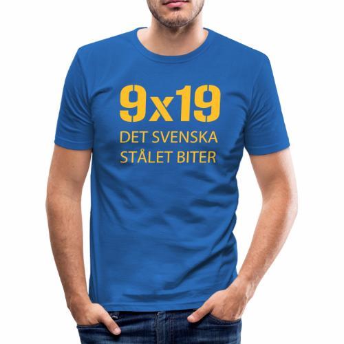Det svenska stålet biter 9x19 - Slim Fit T-shirt herr