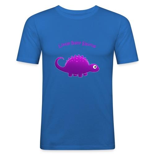 Purple Little Baby Saurus - Men's Slim Fit T-Shirt
