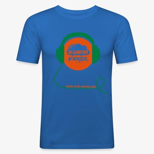 DJ Gewitter Basic 2.0 - Männer Slim Fit T-Shirt
