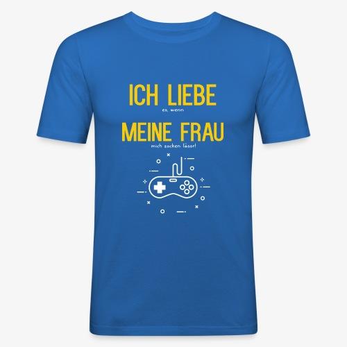 Gamer Zocker - Ich Liebe meine Frau - Männer Slim Fit T-Shirt