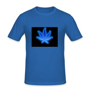 marijuana leaf blue 1 - Obcisła koszulka męska