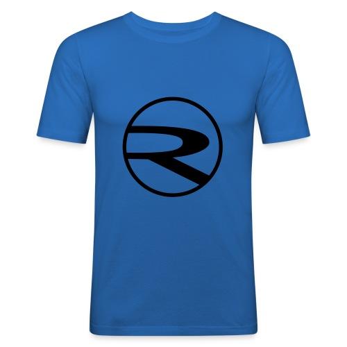 raydas60dc_schwarz-r-einzel_Kreis - Männer Slim Fit T-Shirt