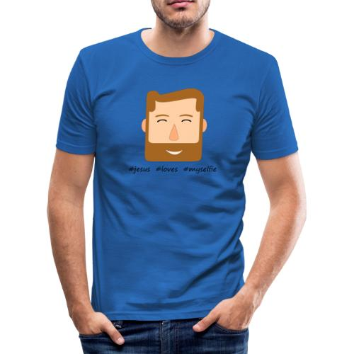 jesus loves myselfie - Männer Slim Fit T-Shirt