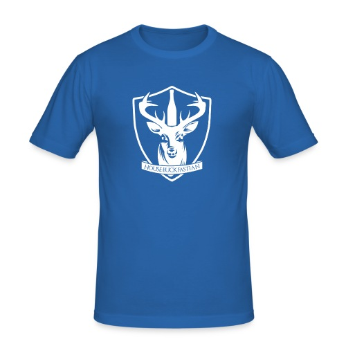 House Buckfastian (White) - Men's Slim Fit T-Shirt