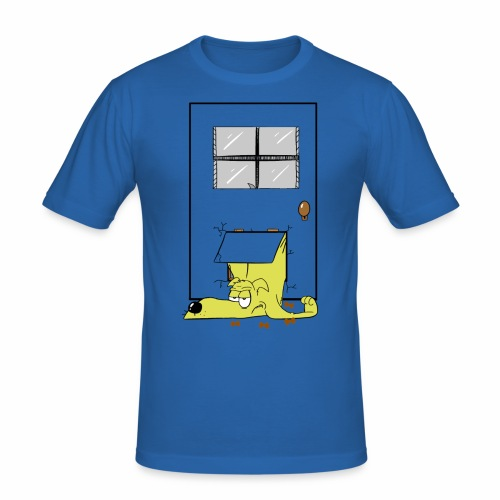 Stuck in a door dog - Men's Slim Fit T-Shirt