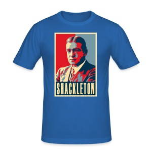 Sir Ernest Shackleton (red, white & blue colours) - Men's Slim Fit T-Shirt