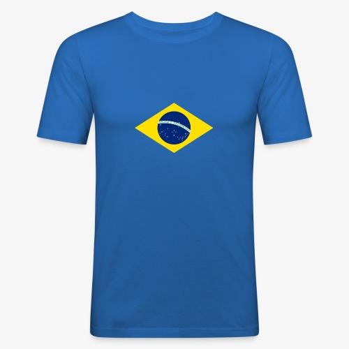 Brasilien Flagge - Männer Slim Fit T-Shirt