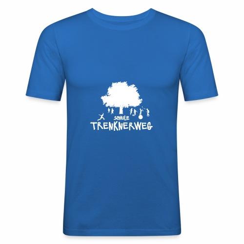 Weißes Logo: nur für grüne Textilien! - Männer Slim Fit T-Shirt