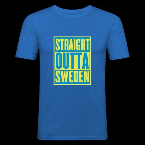 Straight Outta Sweden - Slim Fit T-shirt herr