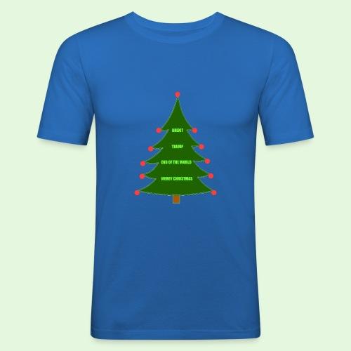 Brexit Trump Christmas - Men's Slim Fit T-Shirt