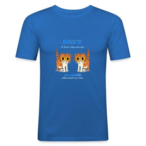 MissK Merchandising - Maglietta aderente da uomo