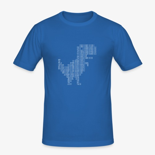 Google dinosaur   Dinosaur Binary   Dino   404 - Men's Slim Fit T-Shirt