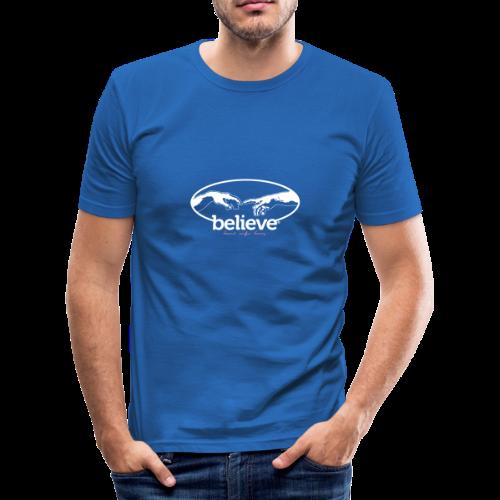 Believe - Männer Slim Fit T-Shirt