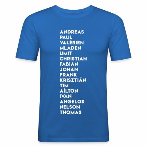 2003/04 Doublesieger Team - Männer Slim Fit T-Shirt