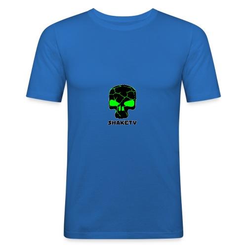 shaketv verde scritta sotto contorno bianco 4 - Maglietta aderente da uomo