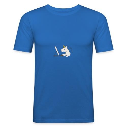 Unicorn Work - Men's Slim Fit T-Shirt