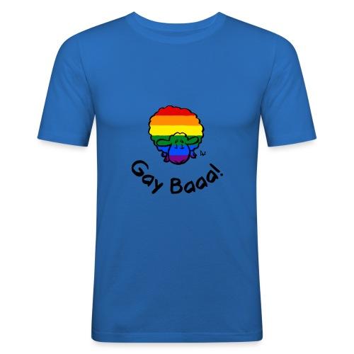 Homosexuell Baaa! Regenbogen-Stolz-Schafe - Männer Slim Fit T-Shirt