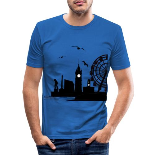 Silhouette of Margate - Men's Slim Fit T-Shirt