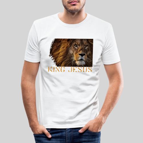 König Jesus der Löwe von Juda - Männer Slim Fit T-Shirt