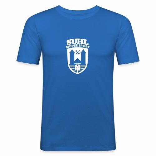 Suhl Mopedsport Schwalbe 2 Logo - Men's Slim Fit T-Shirt