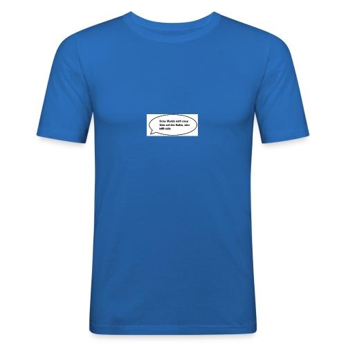 deine-mutter-witze-0 - Men's Slim Fit T-Shirt