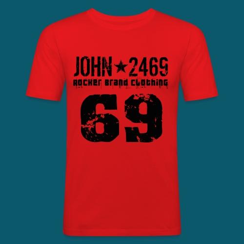 john 2469 numero trasp per spread nero PNG - Maglietta aderente da uomo