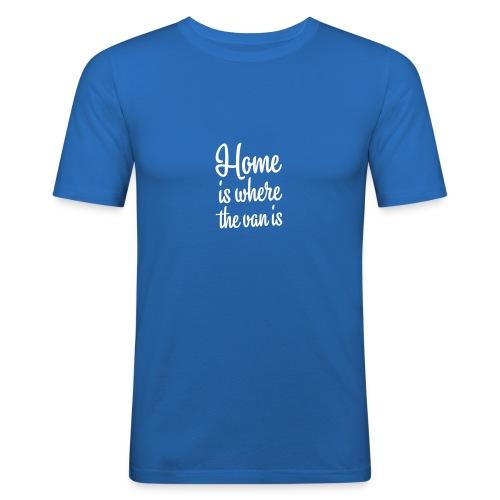 Home is where the van is - Autonaut.com - Men's Slim Fit T-Shirt