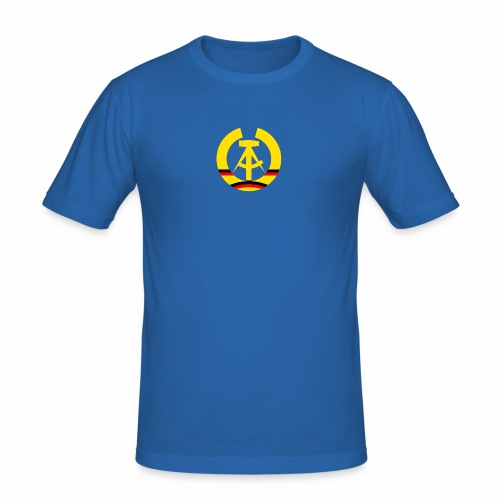DDR coat of arms stylized (single) - Men's Slim Fit T-Shirt