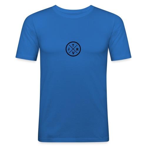 JRTV Logo Black - Männer Slim Fit T-Shirt