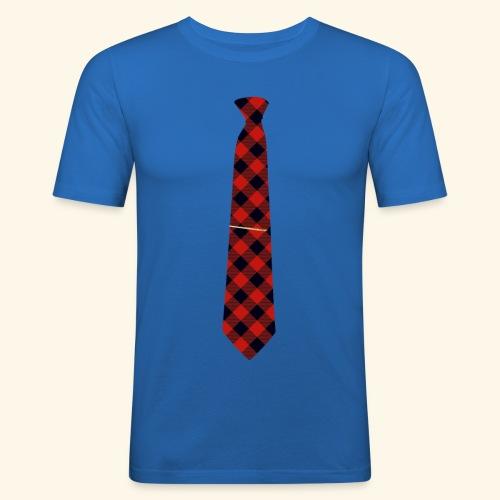 Krawatte 126 mit Goldnadel - Männer Slim Fit T-Shirt
