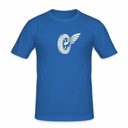 Car badge tires and wings - Men's Slim Fit T-Shirt