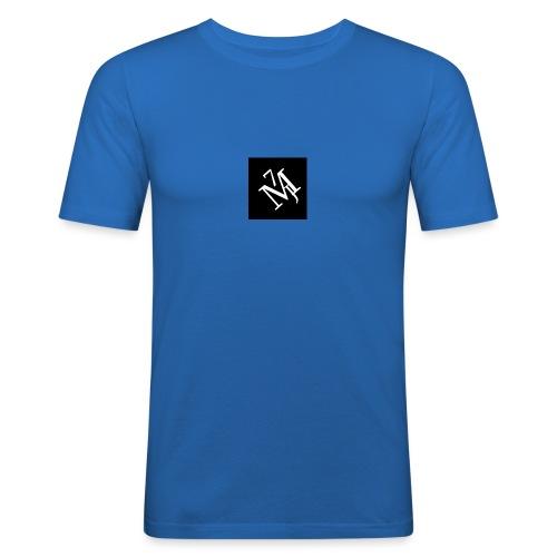 mitt_m--rke_vitt - Slim Fit T-shirt herr