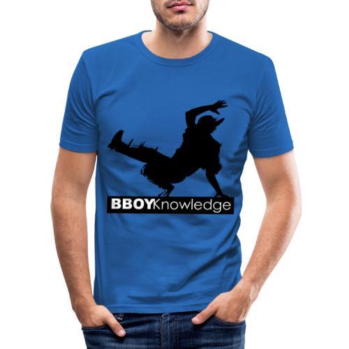 Bboy knowledge noir & blanc - T-shirt près du corps Homme