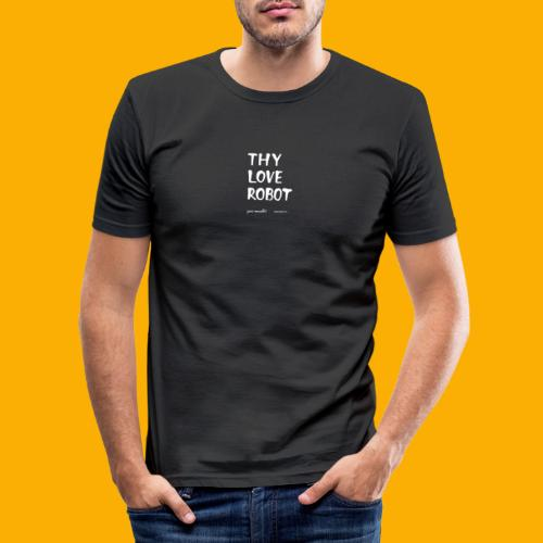 Dat Robot: Thy Love Robot - Mannen slim fit T-shirt