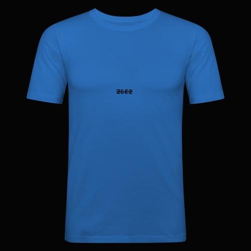 zeez poilu noir sur coté - T-shirt près du corps Homme