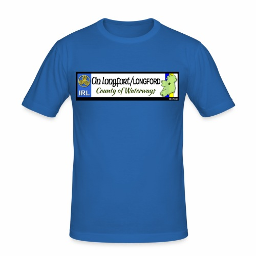 LONGFORD, IRELAND: licence plate tag style decal - Men's Slim Fit T-Shirt