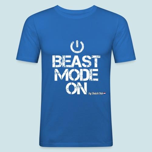 beast mode png - Mannen slim fit T-shirt