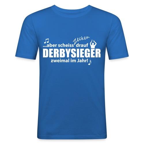 Derbysieger zweimal im Jahr - Männer Slim Fit T-Shirt