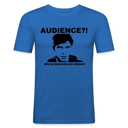 audience test newest flip - Men's Slim Fit T-Shirt
