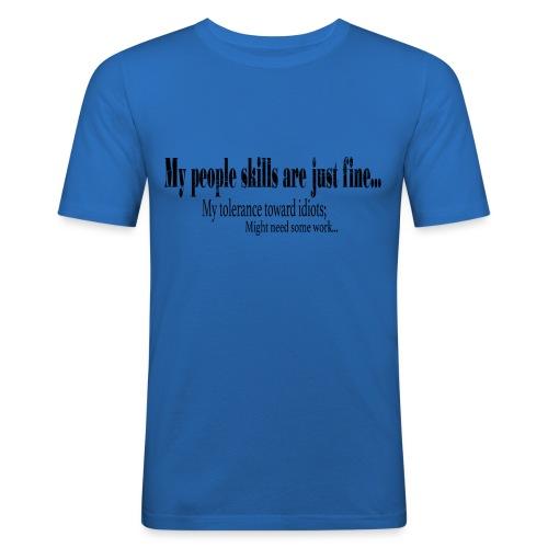 My People skills - Slim Fit T-skjorte for menn