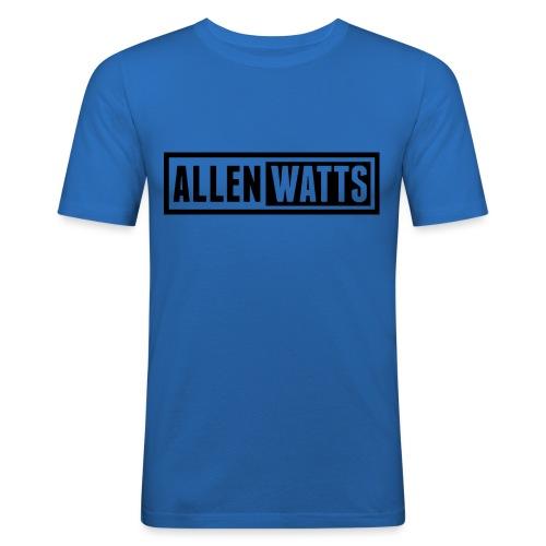 ALLEN WATTS LOGO DARK - Mannen slim fit T-shirt