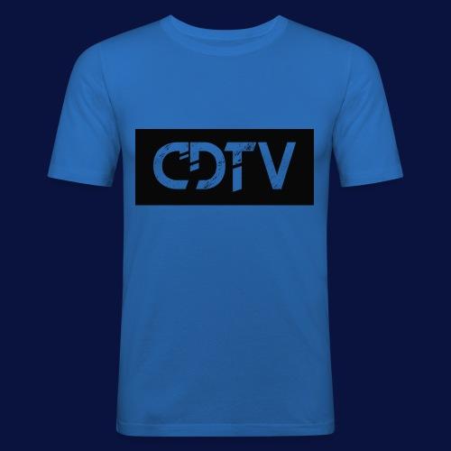 CDTV Box Logo - Men's Slim Fit T-Shirt
