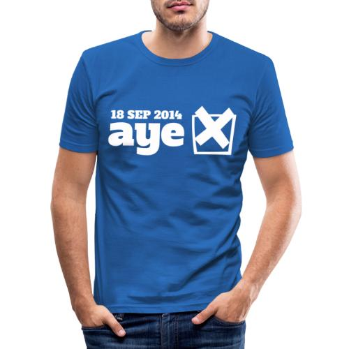 Vote Aye - Men's Slim Fit T-Shirt