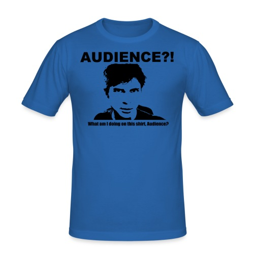 audience test newest flip - Men's Slim Fit T-Shirt